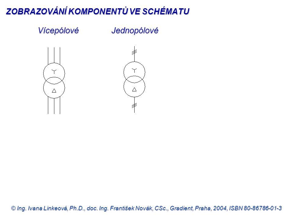 © Ing. Ivana Linkeová, Ph.D., doc. Ing. František Novák, CSc., Gradient, Praha, 2004, ISBN 80-86786-01-3 VícepólovéJednopólové ZOBRAZOVÁNÍ KOMPONENTŮ