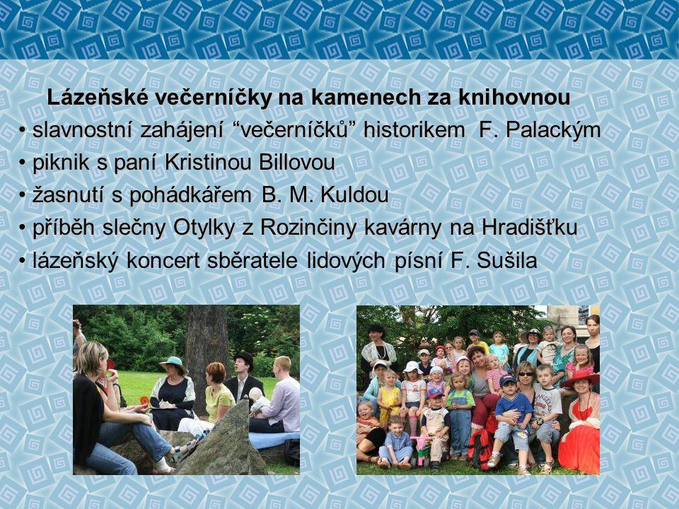 Týden knihoven – Rožnovské kořeny netradiční pojetí besed pro ZŠ v café Rosinka seznámení s lázeňskou historií města