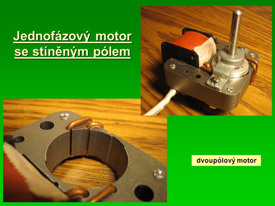 Jednofázový motor se stíněným pólem dvoupólový motor