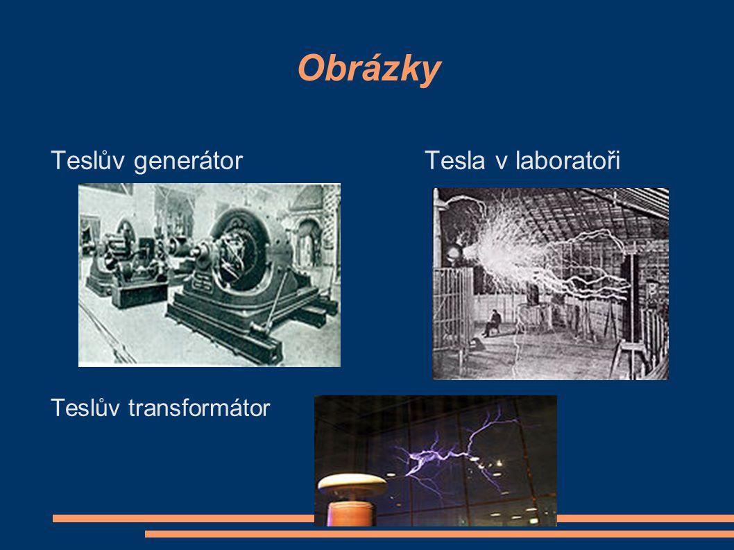 Obrázky Teslův generátor Tesla v laboratoři Teslův transformátor