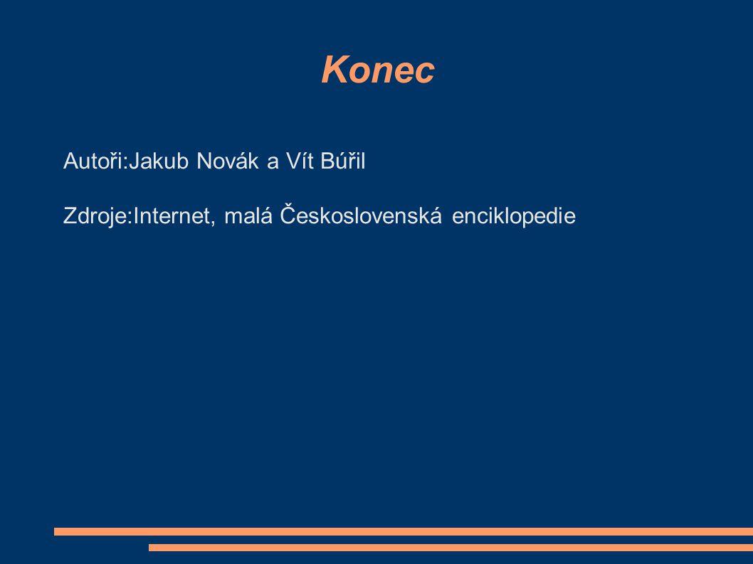 Konec Autoři:Jakub Novák a Vít Búřil Zdroje:Internet, malá Československá enciklopedie