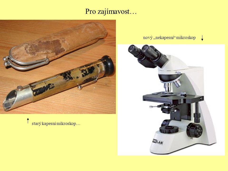 Postup při mikroskopování – není na škodu znovu… 1.