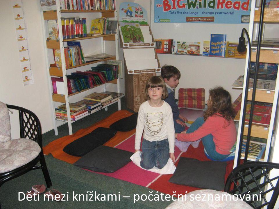 Děti mezi knížkami – počáteční seznamování