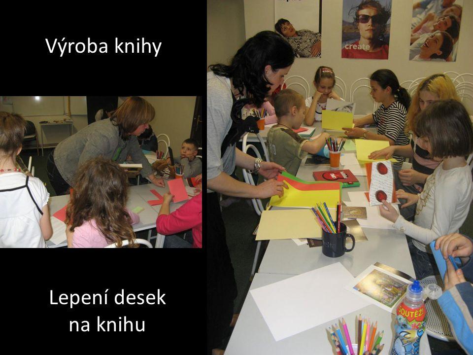 Výroba knihy Lepení desek na knihu