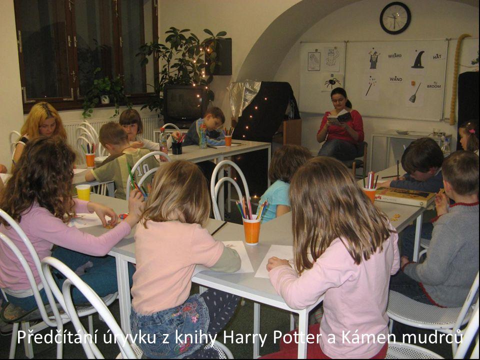 Předčítání úryvku z knihy Harry Potter a Kámen mudrců