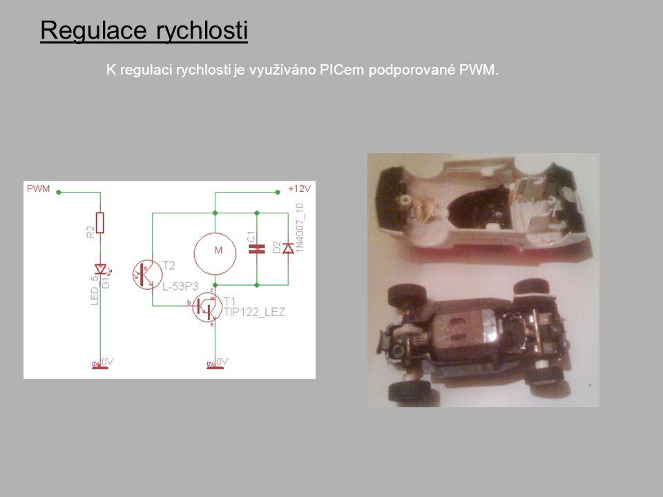 Regulace rychlosti K regulaci rychlosti je využíváno PICem podporované PWM.