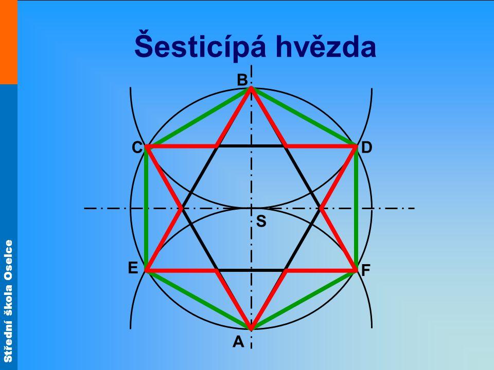 Střední škola Oselce Šesticípá hvězda S B A D F E C