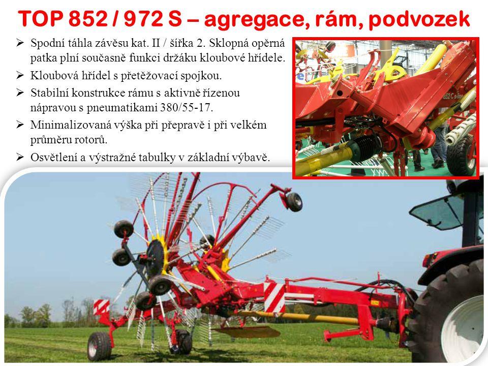 TOP 852 / 972 S – agregace, rám, podvozek  Spodní táhla závěsu kat.