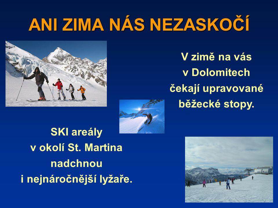 ANI ZIMA NÁS NEZASKOČÍ SKI areály v okolí St.Martina nadchnou i nejnáročnější lyžaře.