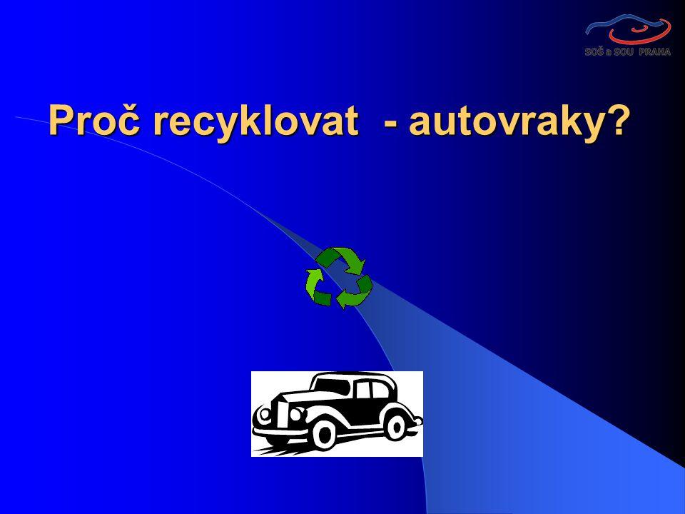 Proč recyklovat - autovraky
