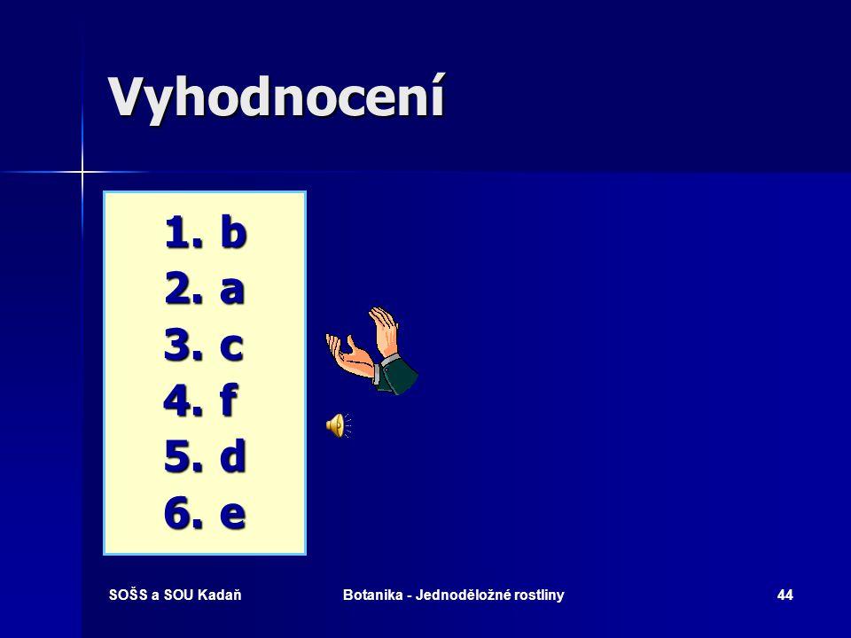 SOŠS a SOU KadaňBotanika - Jednoděložné rostliny43 Které pojmy spolu souvisí? 1. 1.Vemeník dvoulistý 2. 2.Psineček výběžkatý 3. 3.Bledule jarní 4. 4.M