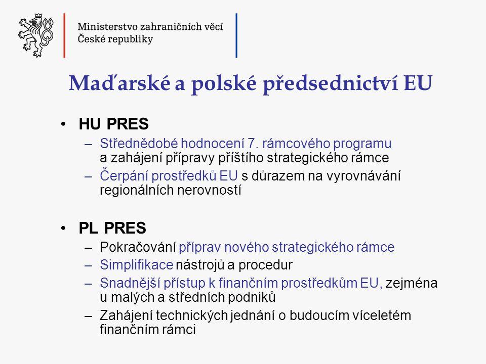 Maďarské a polské předsednictví EU •HU PRES –Střednědobé hodnocení 7.