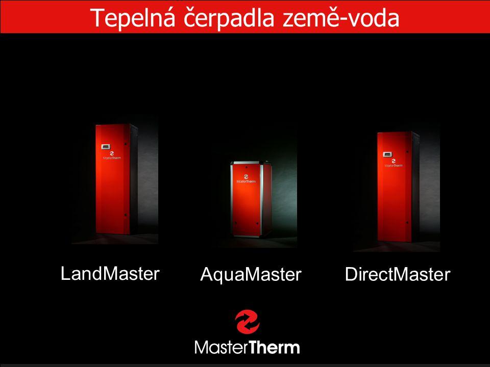 Tepelná čerpadla země-voda AquaMaster LandMaster DirectMaster