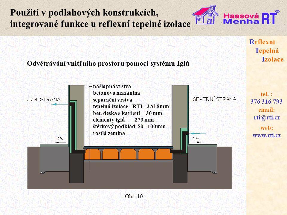 web: www.rti.cz Reflexní Tepelná Izolace email: rti@rti.cz tel. : 376 316 793 nášlapná vrstva betonová mazanina separační vrstva tepelná izolace - RTI