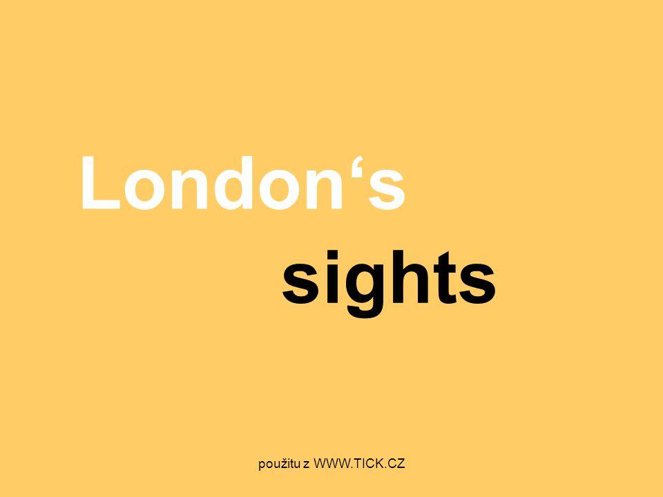 London's sights použitu z WWW.TICK.CZ