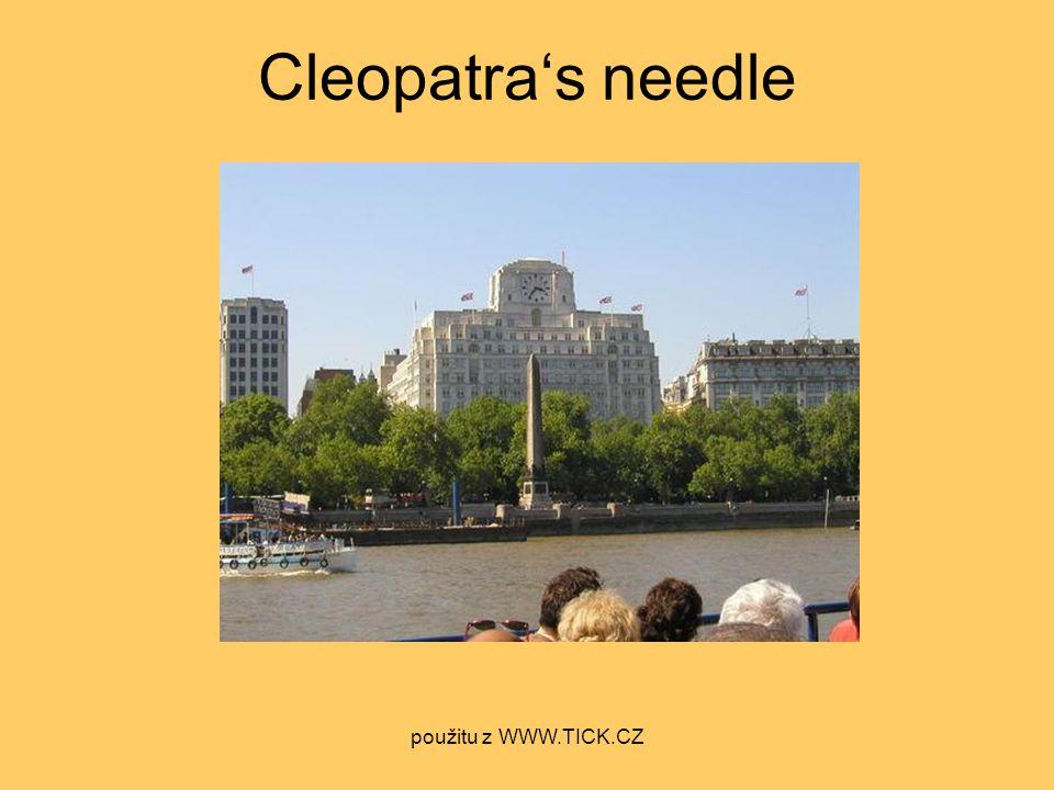 Cleopatra's needle použitu z WWW.TICK.CZ