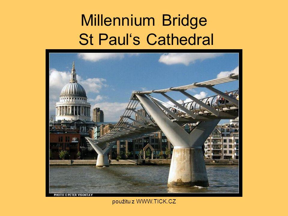 Millennium Bridge St Paul's Cathedral použitu z WWW.TICK.CZ