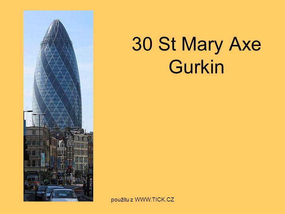 30 St Mary Axe Gurkin použitu z WWW.TICK.CZ