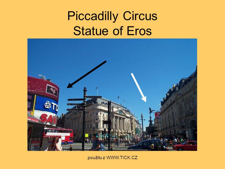Piccadilly Circus Statue of Eros použitu z WWW.TICK.CZ