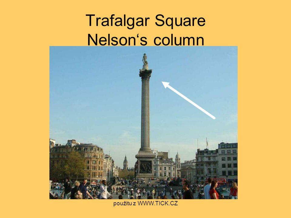 Trafalgar Square Nelson's column použitu z WWW.TICK.CZ