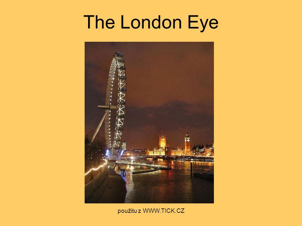 The London Eye použitu z WWW.TICK.CZ