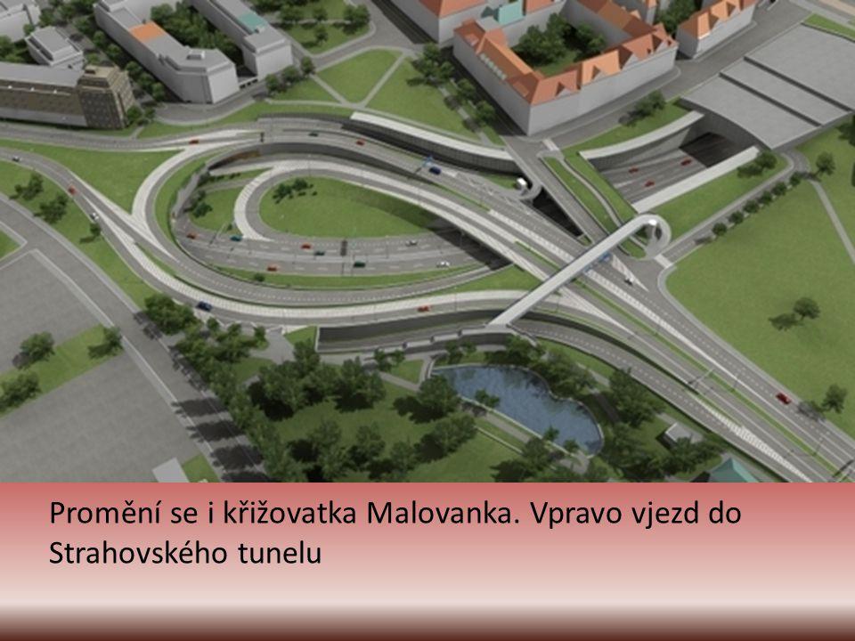 Tunel Blanka bude navazovat na již současně zprovozněný tunelový komplex Strahovského tunelu a Mrázovky.