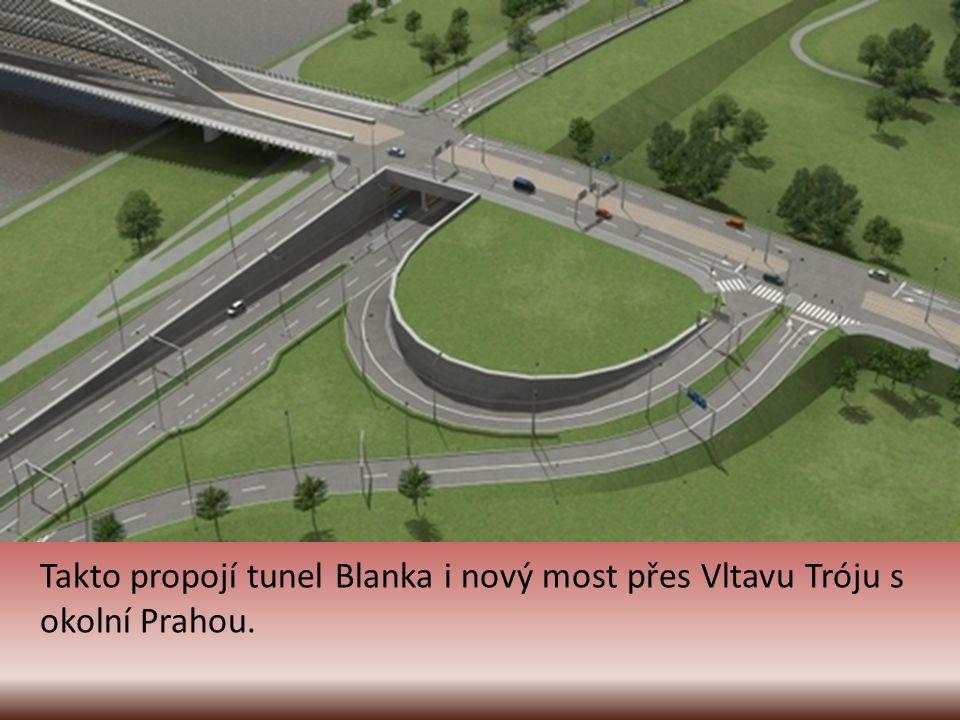 Přibude nový Trojský most přes Vltavu.