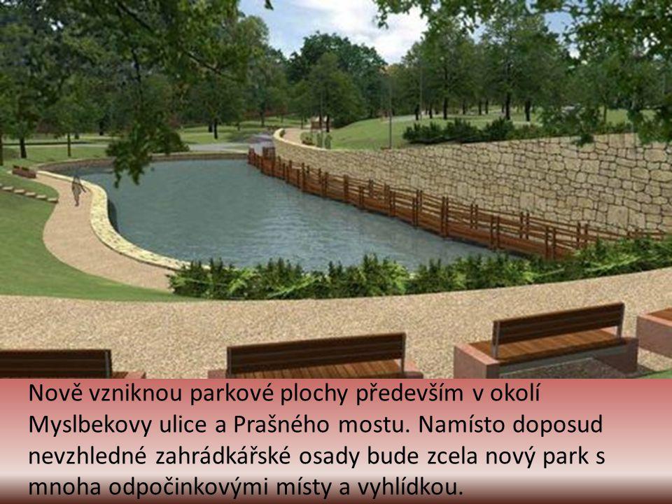 Mezi stanicí Hradčanská a prostorem Nádraží Dejvice budou nově postaveny podchody s nákupními galeriemi. Bude zřízen nový park s fontánou a relaxačním