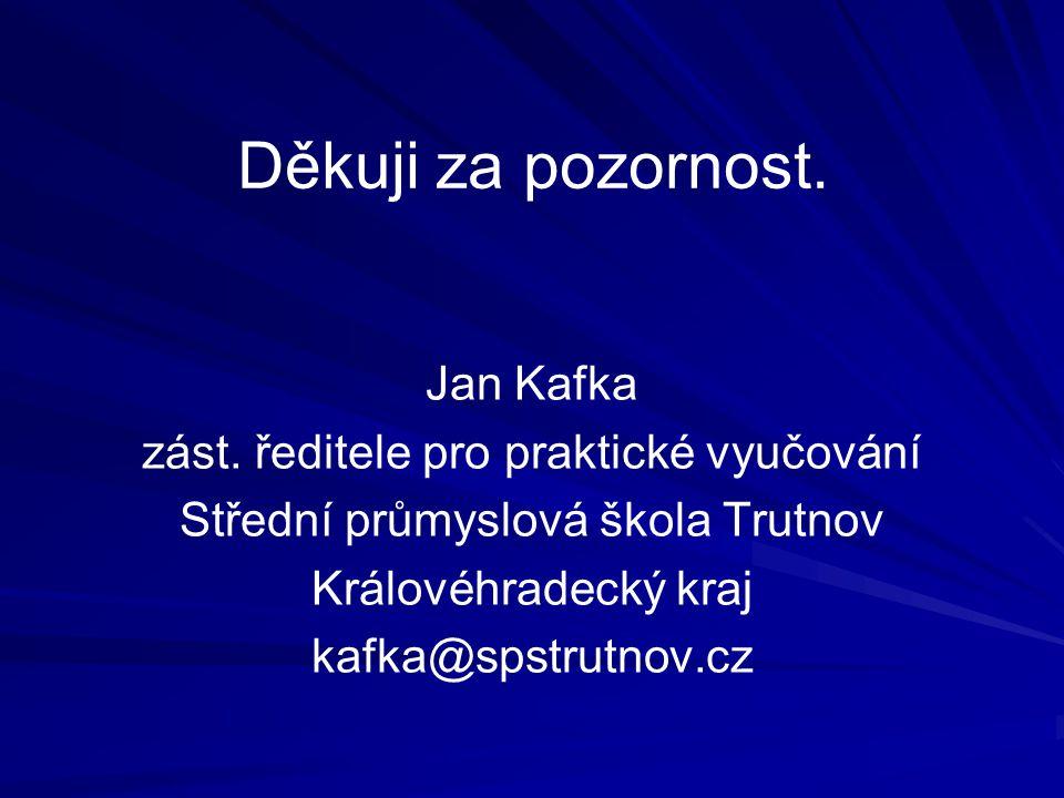 Děkuji za pozornost. Jan Kafka zást.