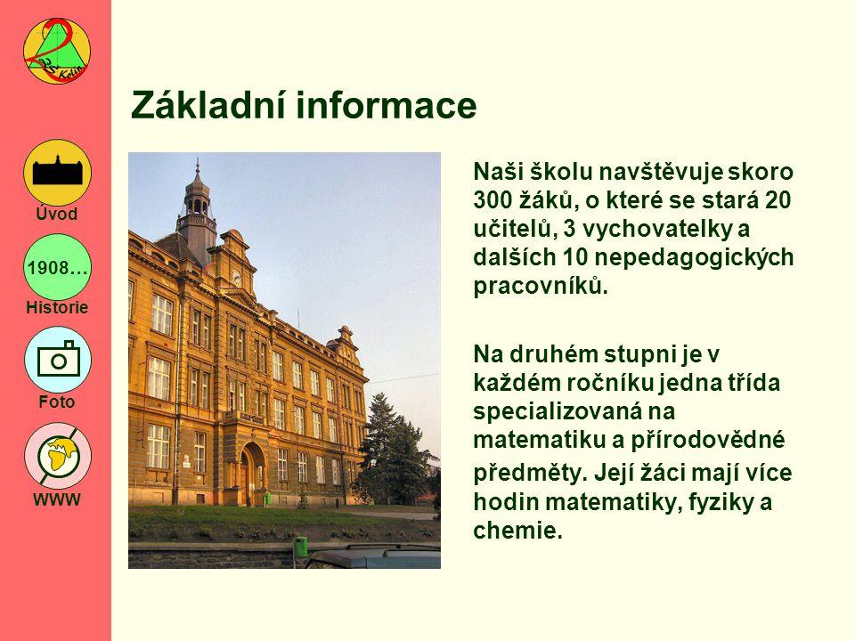 1908… Historie Foto WWW Úvod Kontakt Základní škola Kolín II.