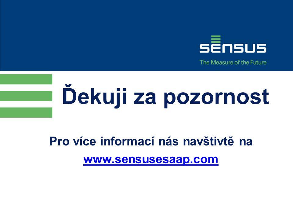 Ďekuji za pozornost Pro více informací nás navštivtě na www.sensusesaap.com