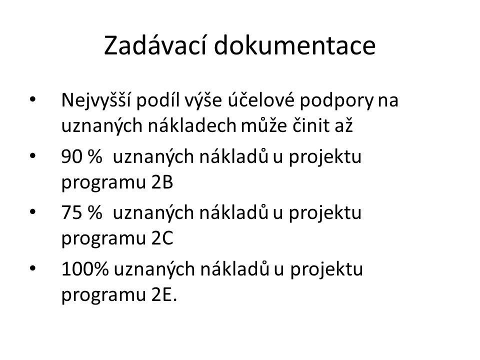 Příklad výpočtu dotace Je v návrhu projektu jen jeden účastník.