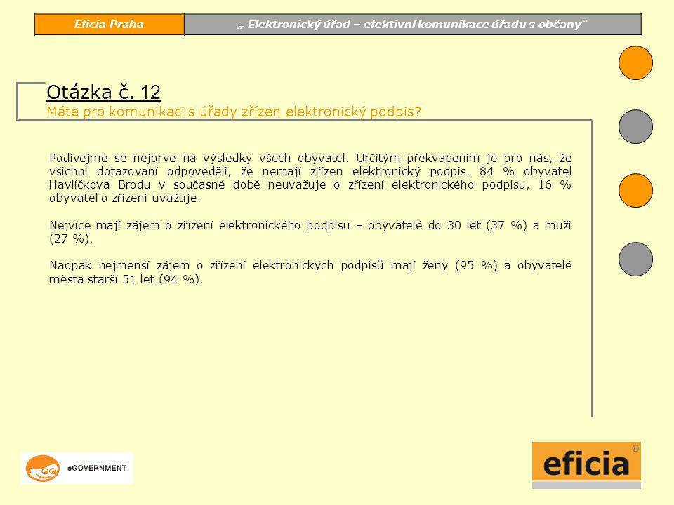 """Eficia Praha"""" Elektronický úřad – efektivní komunikace úřadu s občany Podívejme se nejprve na výsledky všech obyvatel."""