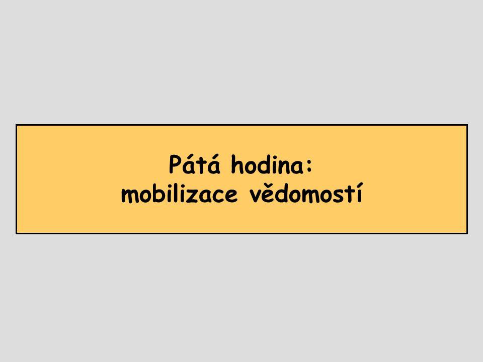 Pátá hodina: mobilizace vědomostí