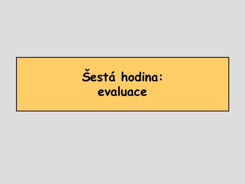 Šestá hodina: evaluace
