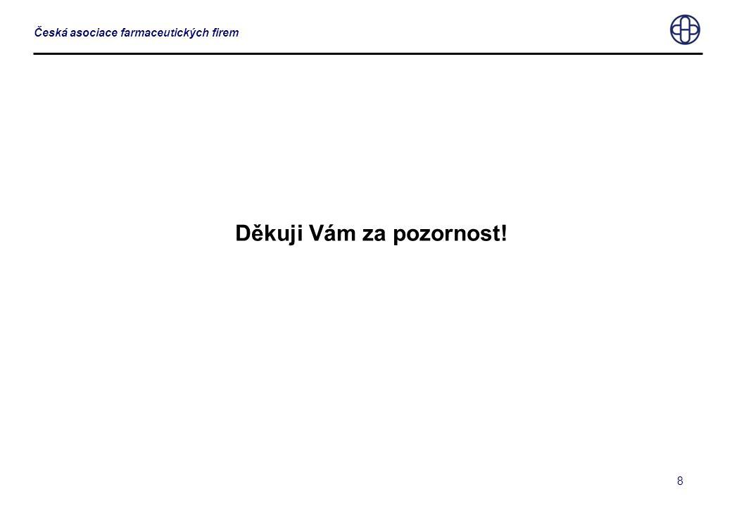 8 Česká asociace farmaceutických firem Děkuji Vám za pozornost!