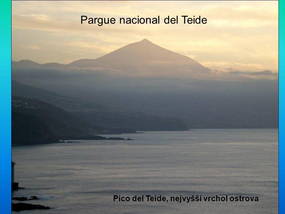 Pargue nacional del Teide Pico del Teide, nejvyšší vrchol ostrova