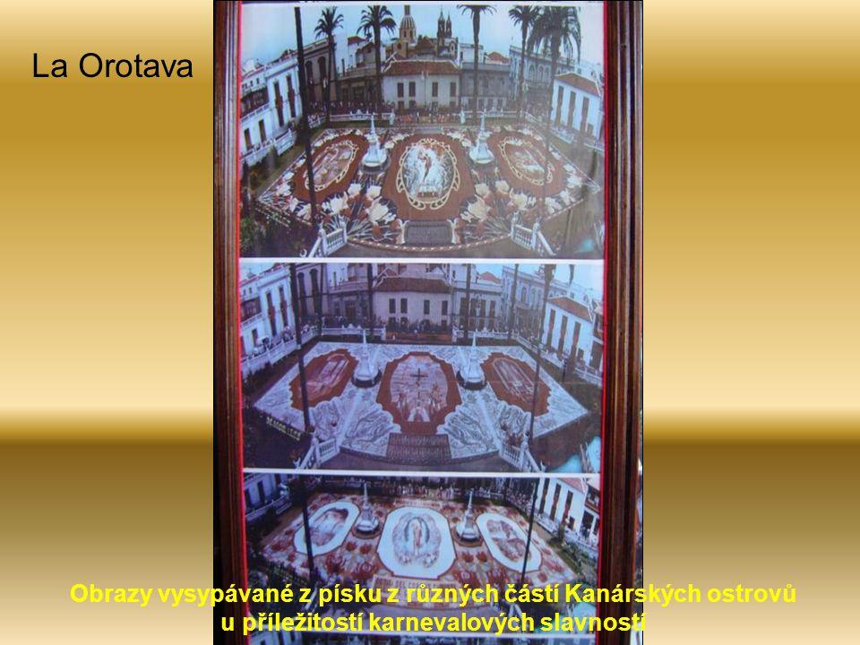 La Orotava Obrazy vysypávané z písku z různých částí Kanárských ostrovů u příležitostí karnevalových slavností