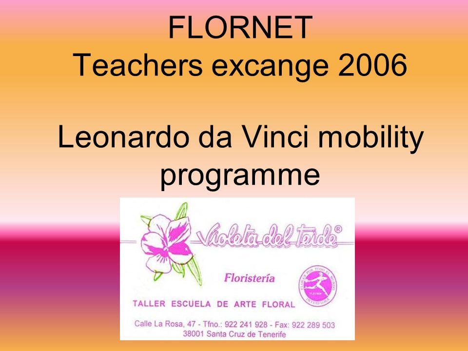 FLORNET Teachers excange 2006 Leonardo da Vinci mobility programme