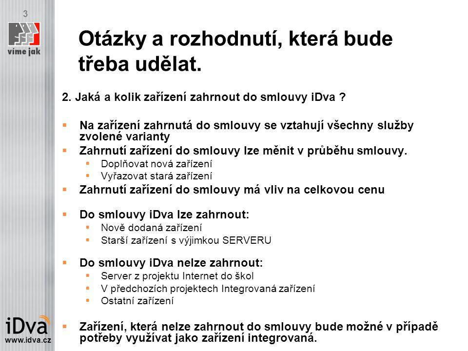 www.idva.cz 3 2. Jaká a kolik zařízení zahrnout do smlouvy iDva .
