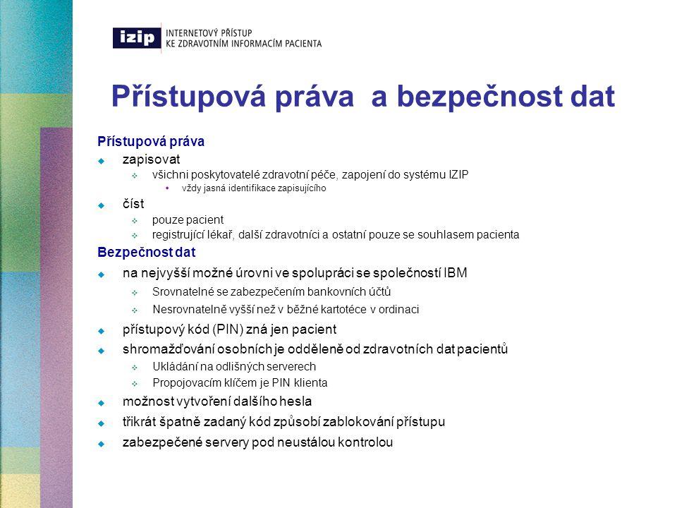 Legislativní rámec systému  Společnost IZIP obdržela souhlas ke shromažďování osobních dat v souladu s platnými zákony České republiky, především se zákonem č.