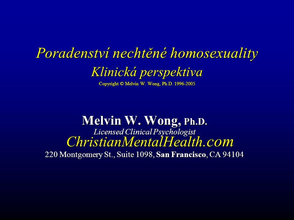 Nechtěná homosexualita (Copyright © Melvin Wong, Ph.D.
