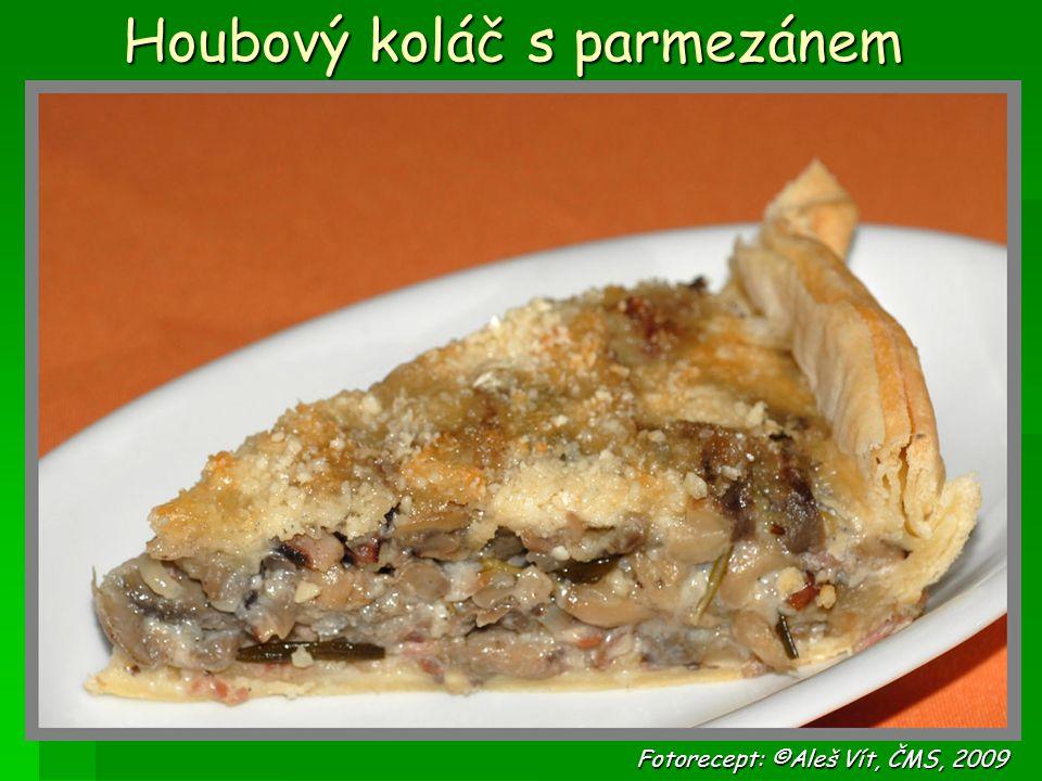 Houbový koláč s parmezánem Fotorecept: ©Aleš Vít, ČMS, 2009 Fotorecept: ©Aleš Vít, ČMS, 2009
