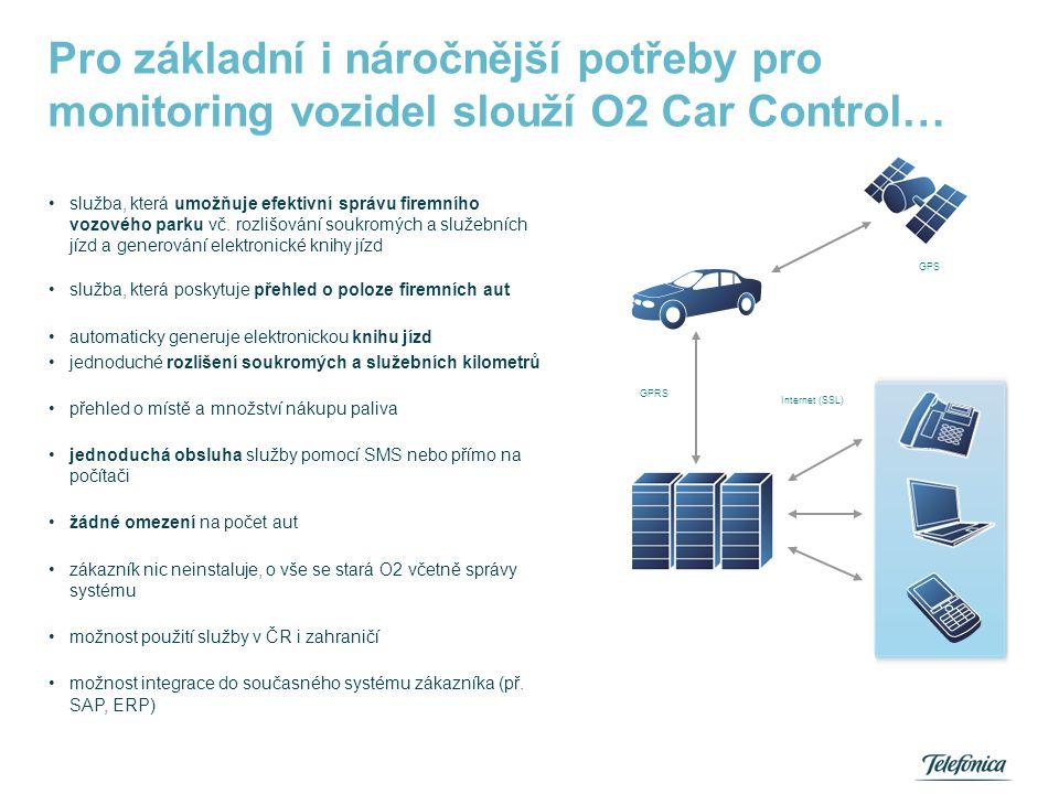 •služba, která umožňuje efektivní správu firemního vozového parku vč. rozlišování soukromých a služebních jízd a generování elektronické knihy jízd •s