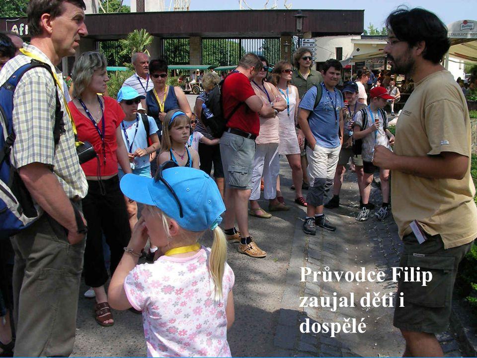 Průvodce Filip zaujal děti i dospělé