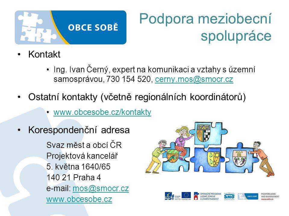 Podpora meziobecní spolupráce •Kontakt •Ing.
