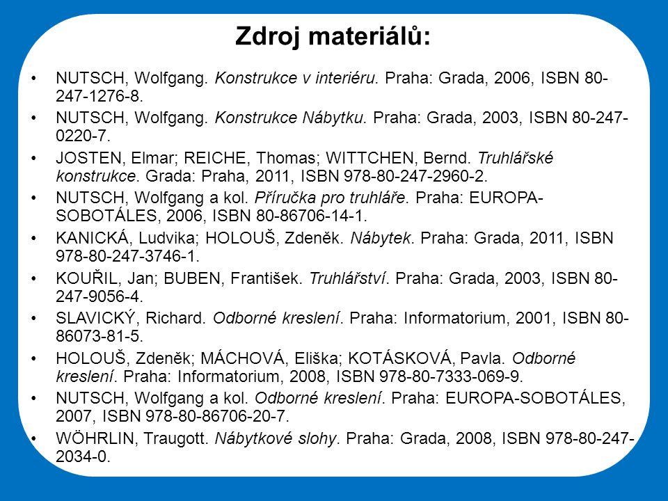 Střední škola Oselce Zdroj materiálů: •NUTSCH, Wolfgang.