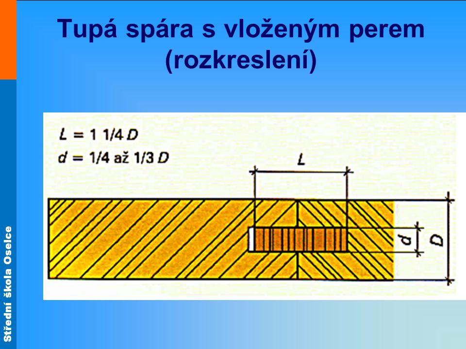 Střední škola Oselce Tupá spára s vloženým perem (rozkreslení)