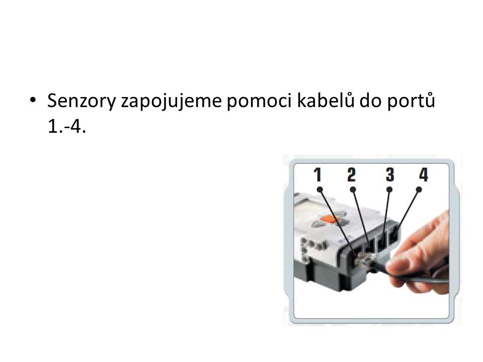 • Senzory zapojujeme pomoci kabelů do portů 1.-4.