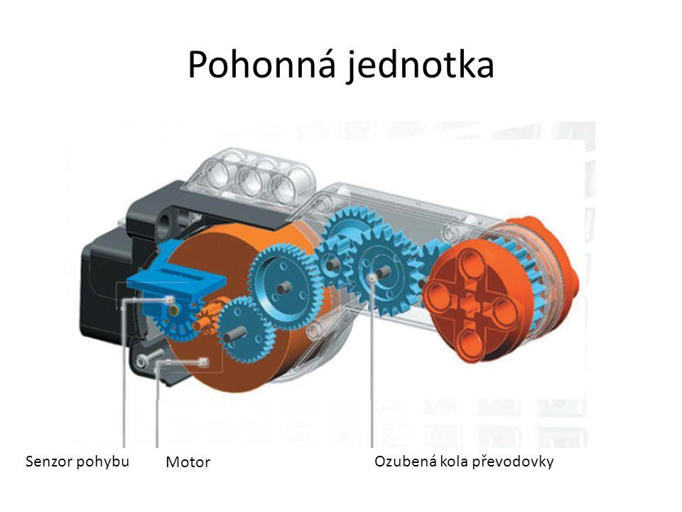Pohonná jednotka Ozubená kola převodovky Motor Senzor pohybu